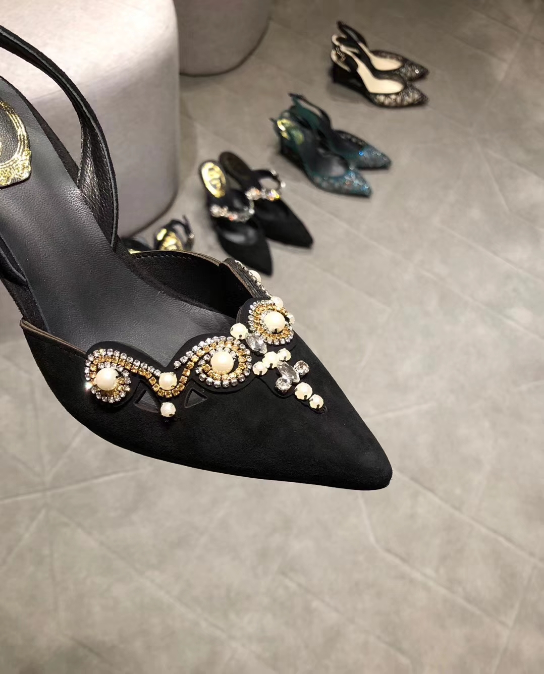 Rene Caovilla 2018SS新款RC珍珠凉鞋