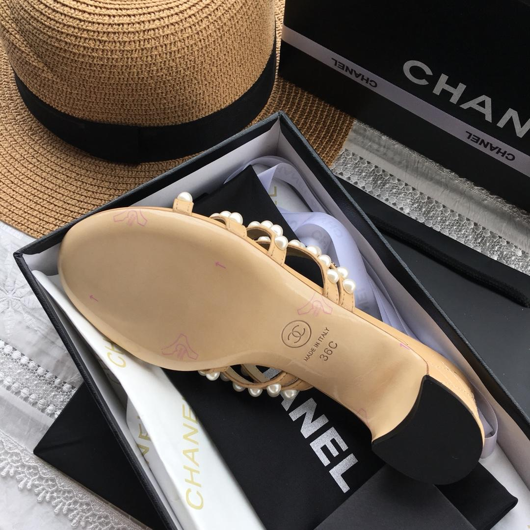 Chanel代购凉鞋 2018春夏新款珍珠凉鞋