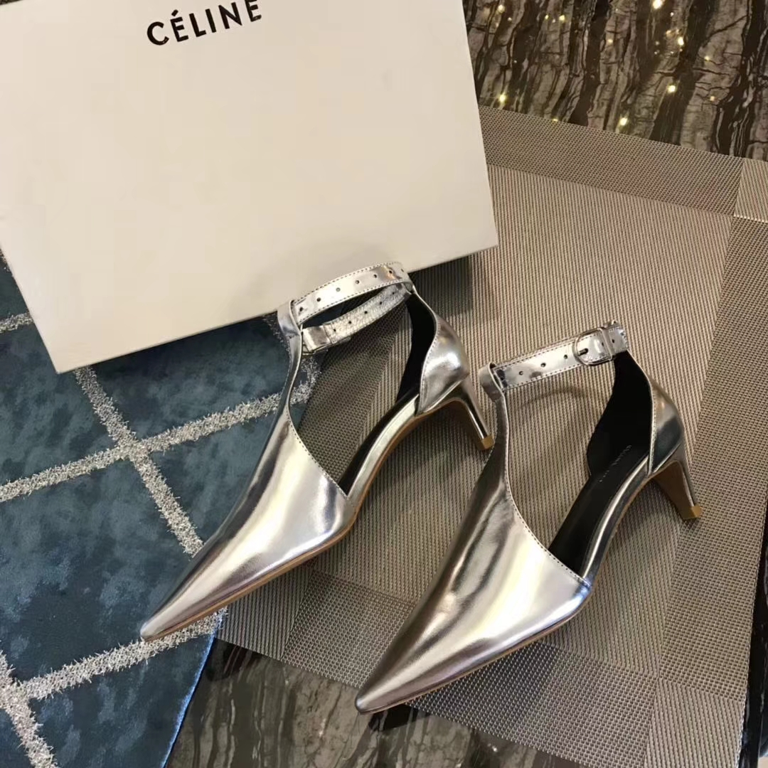 Celine2018早春新款尖头高跟鞋Sandals 网红同款