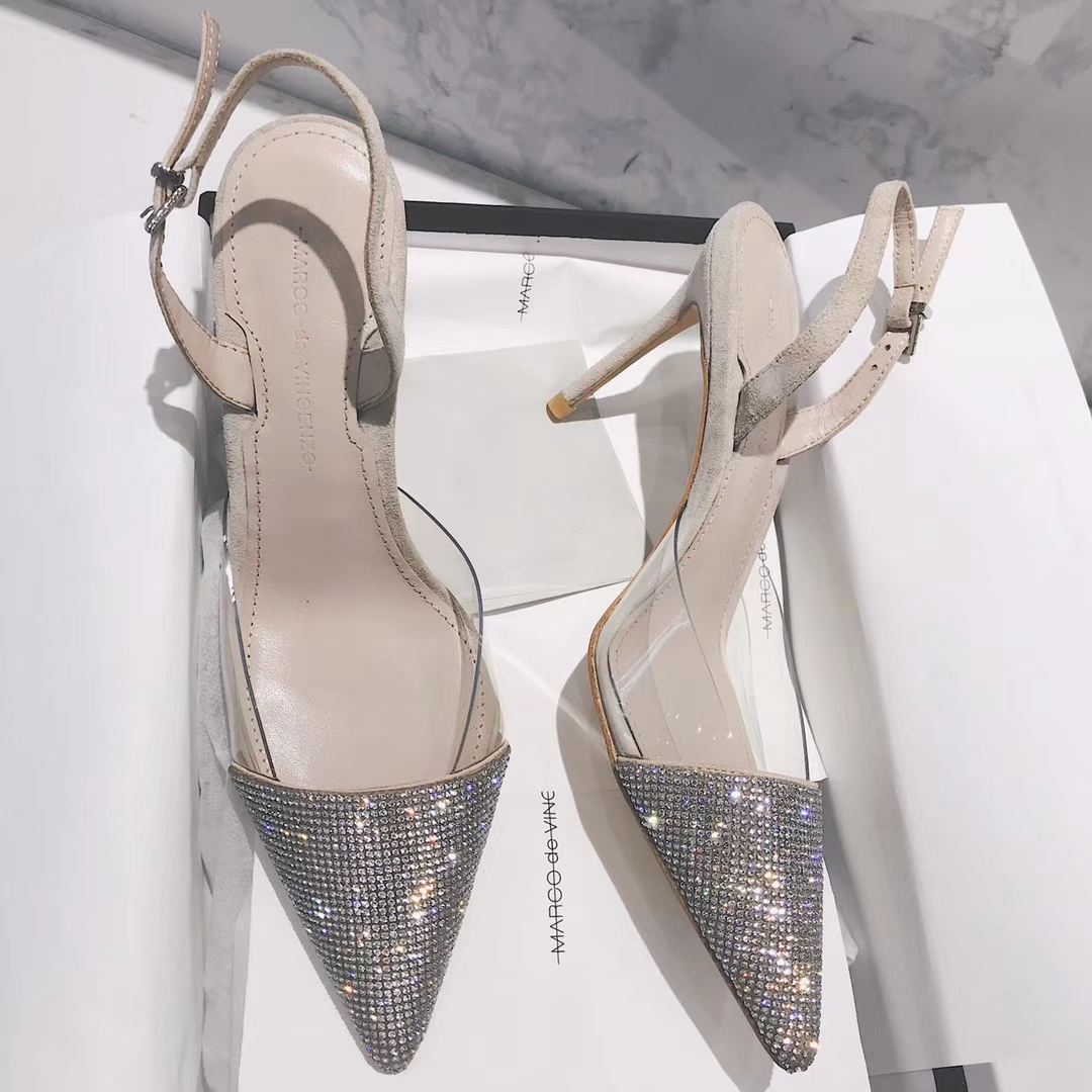 Marco de vincenzo水钻高跟凉鞋 这个夏季 我们一起玩转时尚