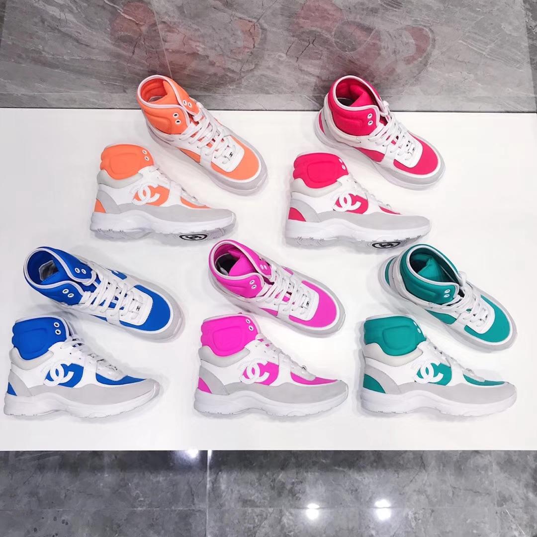 Chanel 2018款高帮运动休闲鞋专柜同步上新