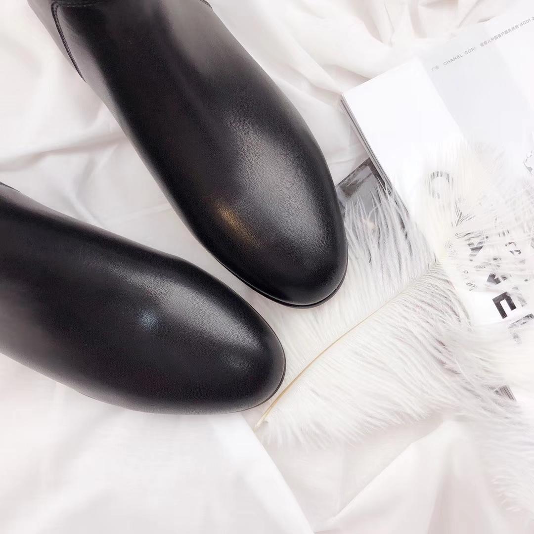 """018新款Hermes爱马仕经典骑士短靴真皮平底女士短靴"""""""