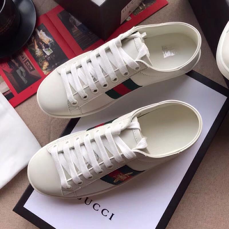【Gucci】经典情侣款小白鞋