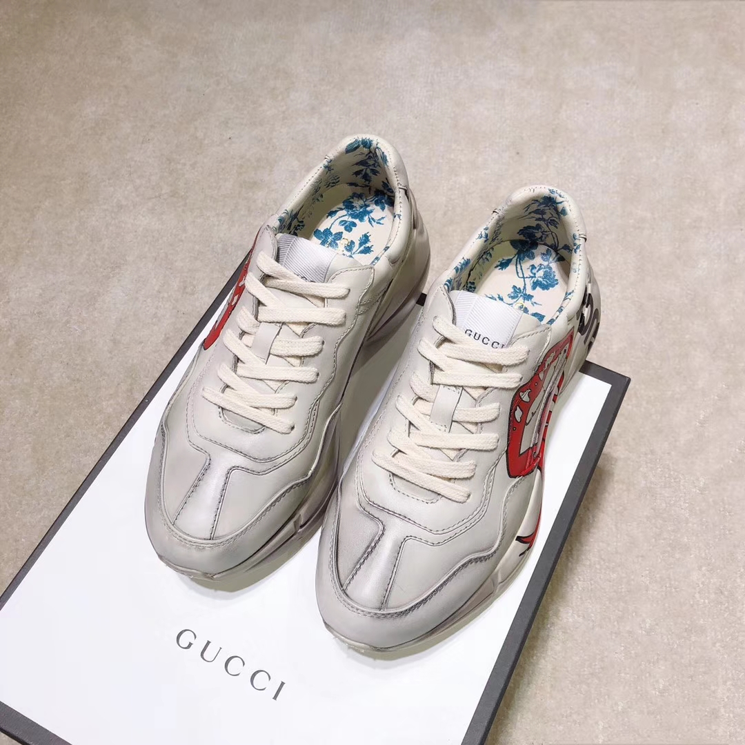 GUCCi 爆款新葱粉老爹鞋 市场唯一对版