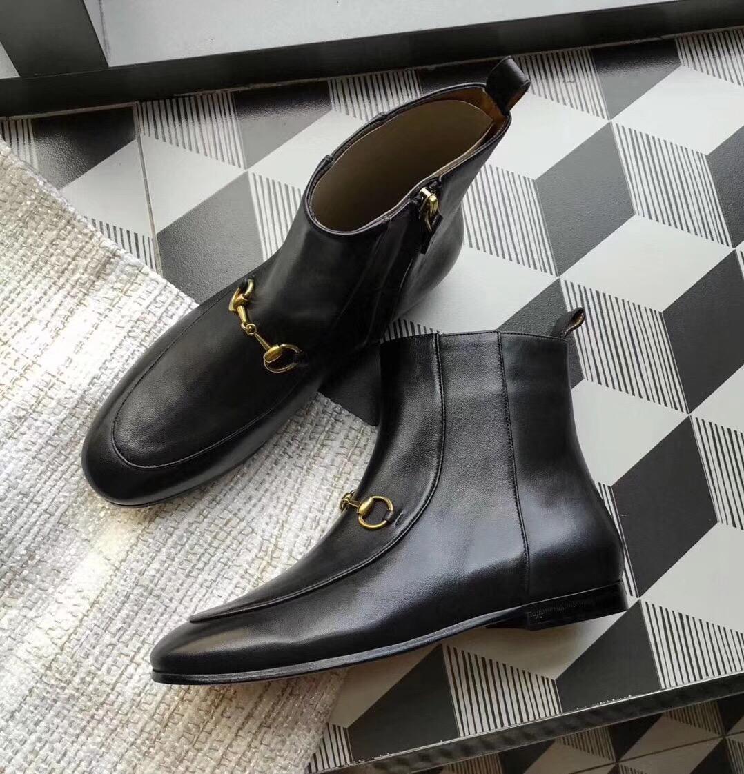 古驰短靴 2018秋冬GUCCI时尚休闲小短靴