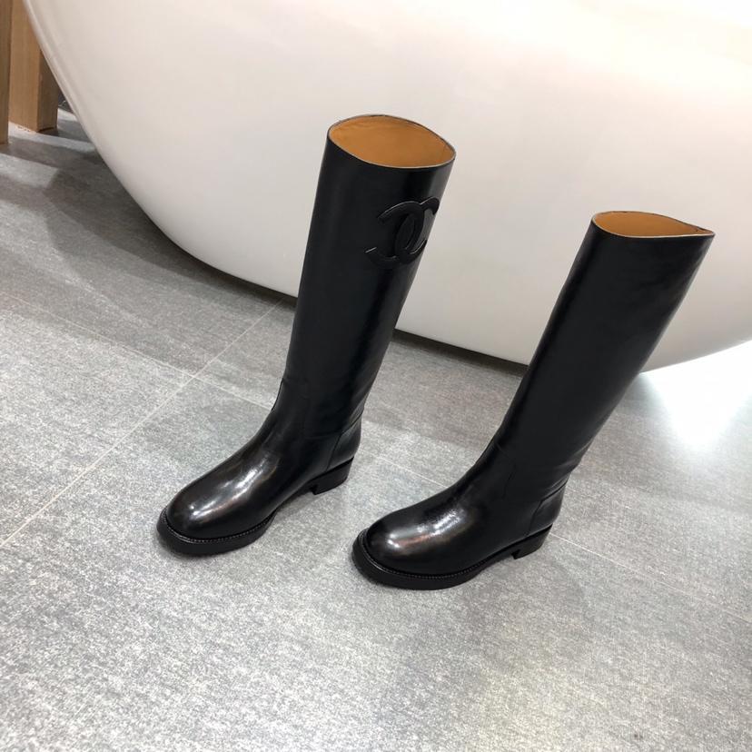 chanel长靴 2018s香奈儿新款骑士靴 chanel专柜同款过膝长靴
