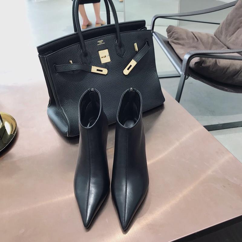 celine女鞋 celine中国官网鞋子2018新款真皮高仿短靴