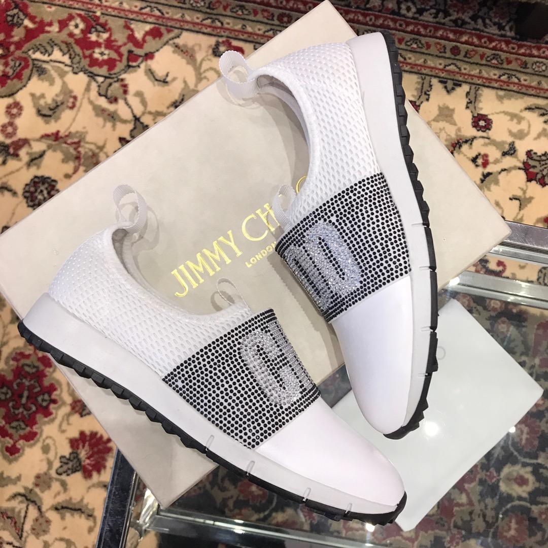【JC女鞋】周仰杰2019新款水晶钻字母休闲鞋 小白鞋