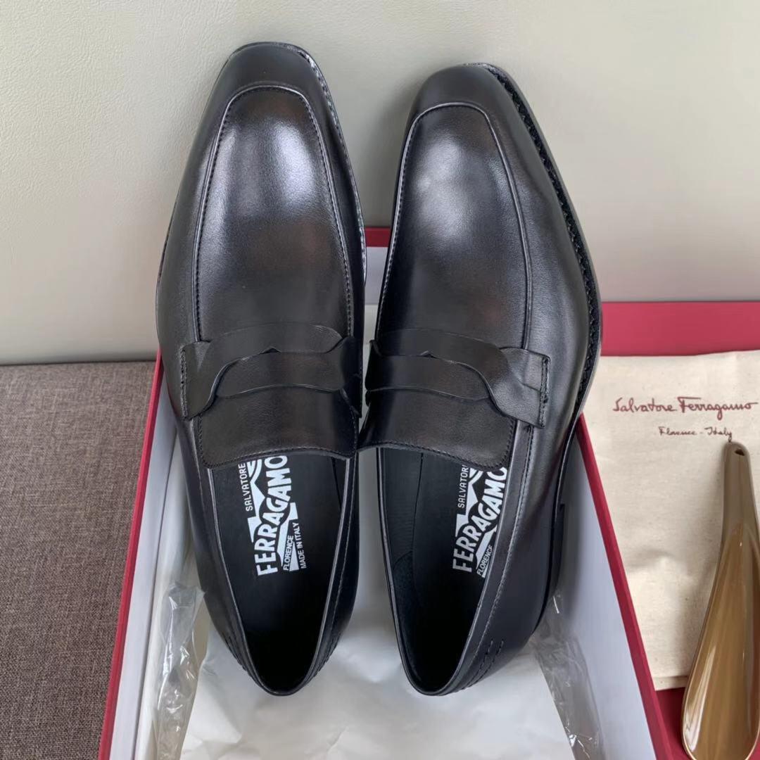 菲拉格慕男鞋 ferragamo经典款男士正装皮鞋 商务皮鞋