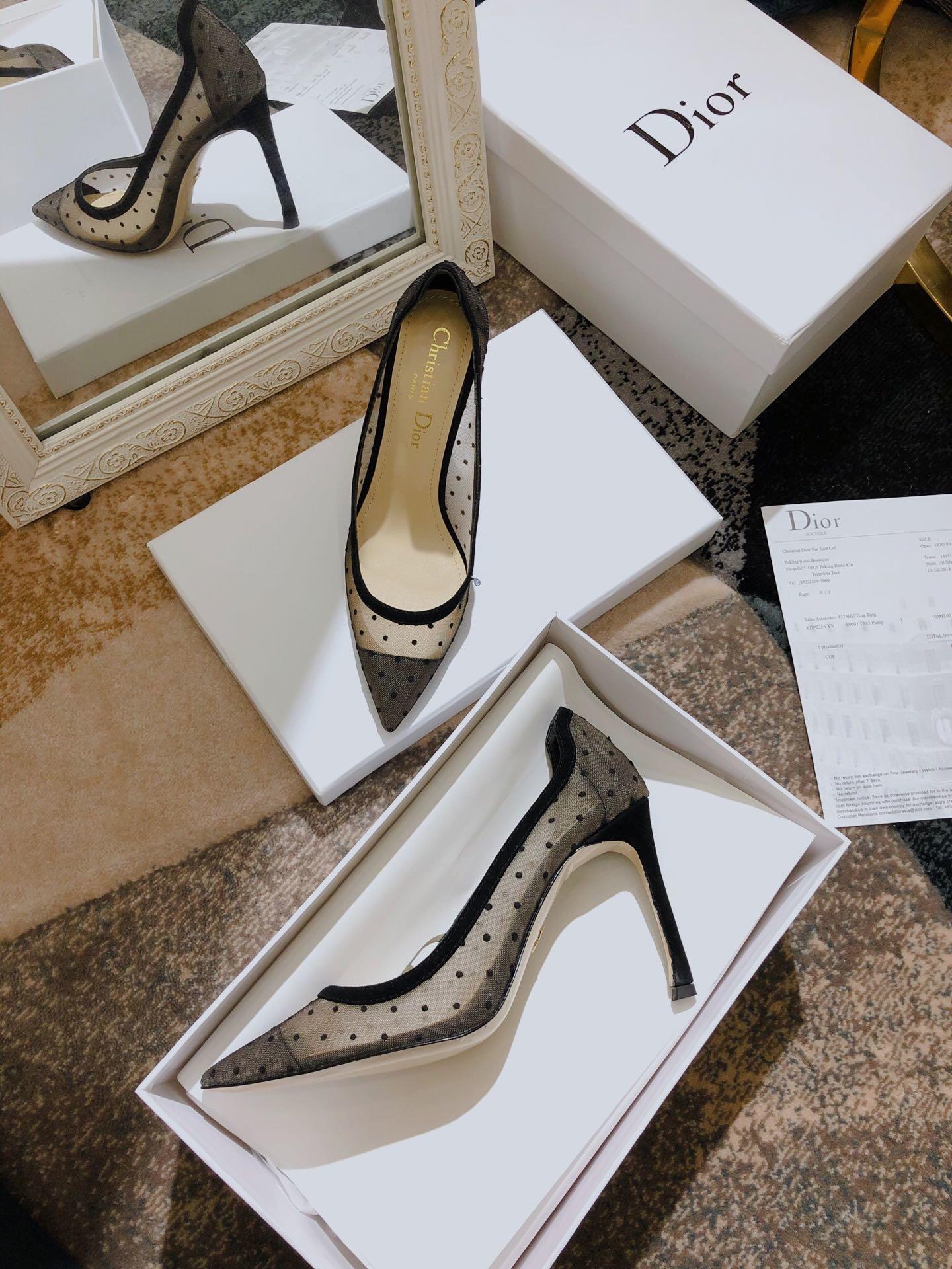 J'ADIOR 迪奥高跟鞋 Dior 19SS早春新款D-MOI优雅高跟尖头女单鞋