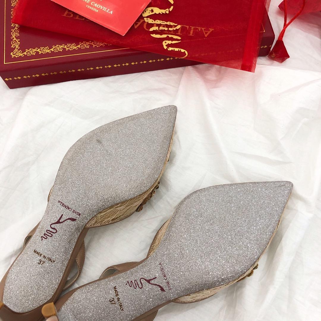 Rene Caovilla经典款奢华水钻凉鞋 RC新款女式凉鞋