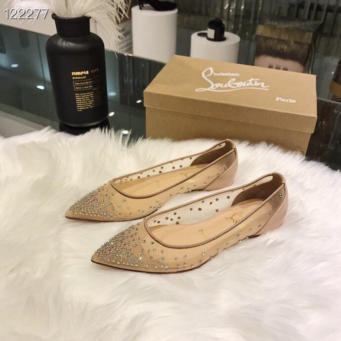 CL高跟鞋 CL新款网纱施华洛水钻单鞋 仙女百搭款高跟鞋