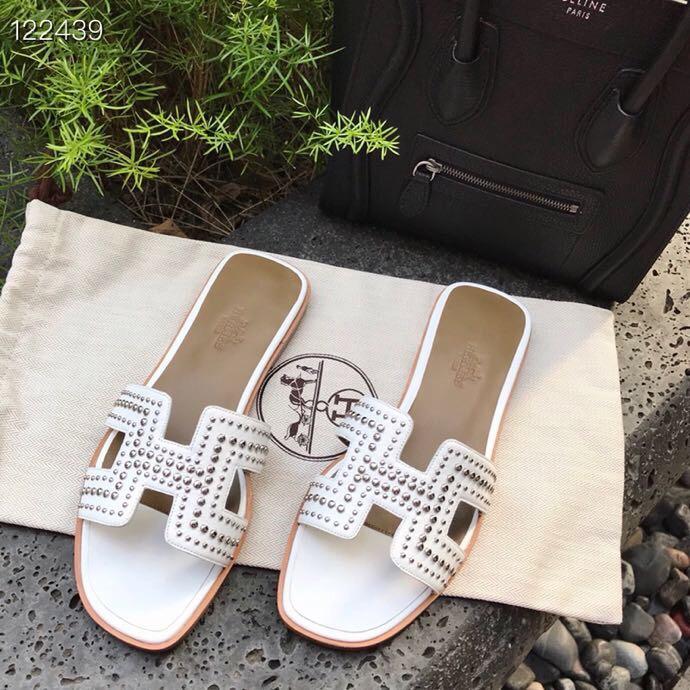 爱马仕拖鞋 Hermès专柜新款女士拖鞋 平底拖鞋