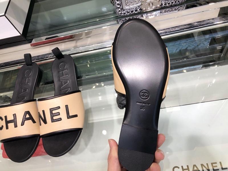 chanel拖鞋 2019香奈儿官网新款超美字母拖鞋