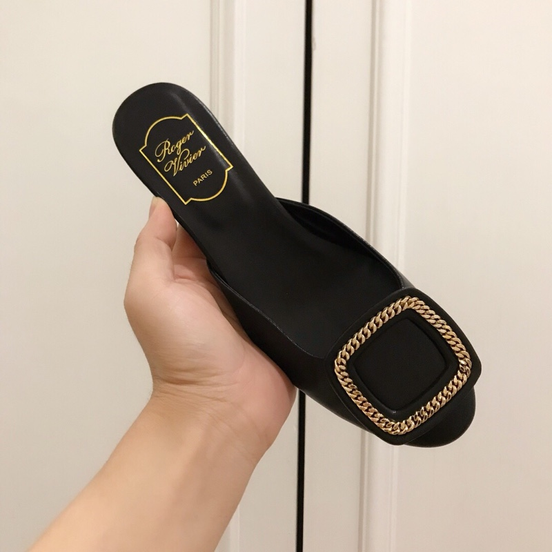 RV拖鞋 Roger vivier官网19早春新款女鞋拖鞋