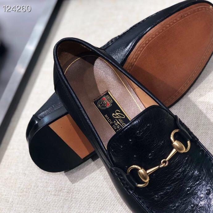 GUCCI男鞋 古驰经典乐福鞋代购级别男士商务皮鞋