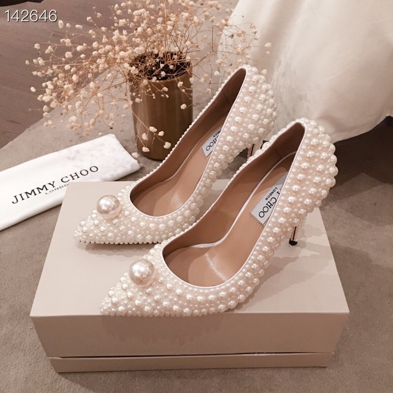 【代购级】JC 19ss专柜最新款珍珠高跟鞋