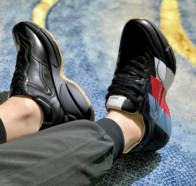 高仿GUCCI老爹鞋 新款Rhyton系列老爹鞋 古驰情侣款运动鞋