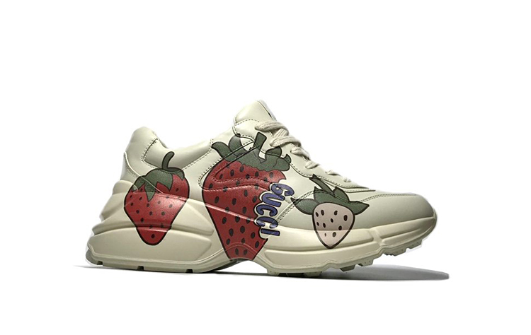 原单古驰老爹鞋 高仿GUCCI古奇情侣款老爹鞋 草莓款