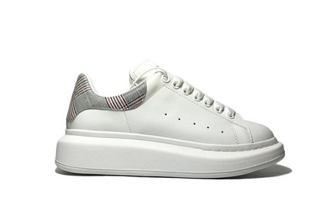 Alexander McQueen麦昆经典情侣款小白鞋 专柜最新版休闲鞋