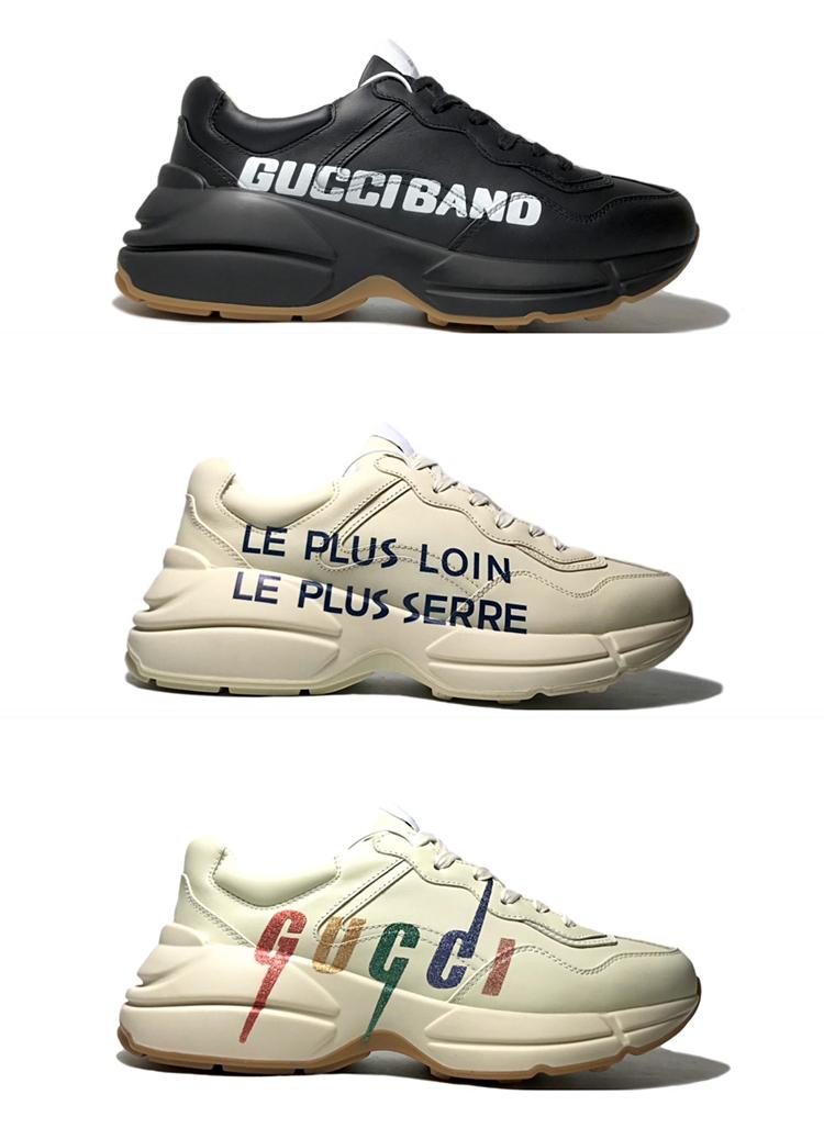 高仿GUCCI老爹鞋 古驰情侣款休闲运动鞋 字母款老爹鞋