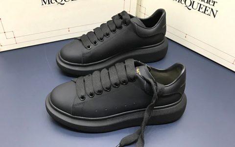 Alexander McQueen万年经典款厚底鞋 麦昆情侣款小白鞋