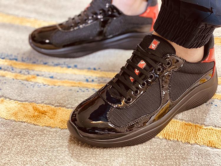高仿PRADA男士休闲运动鞋 普拉达官网新款男士休闲鞋