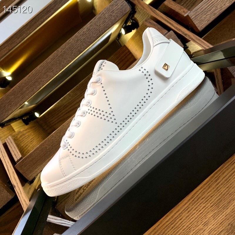 华伦天奴情侣款休闲运动鞋 代购品质小白鞋