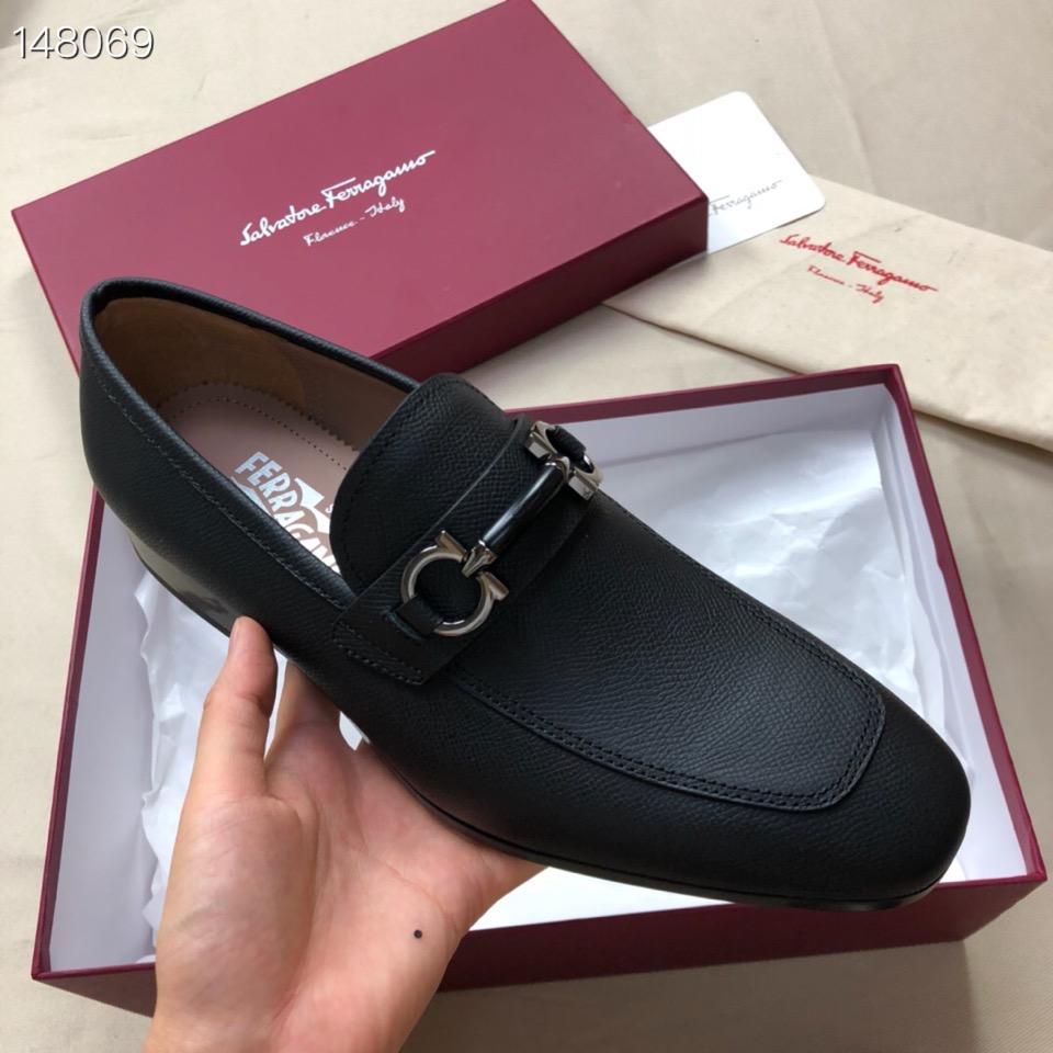SF菲拉格慕高端男士正装皮鞋 市场最高端版本高仿男鞋