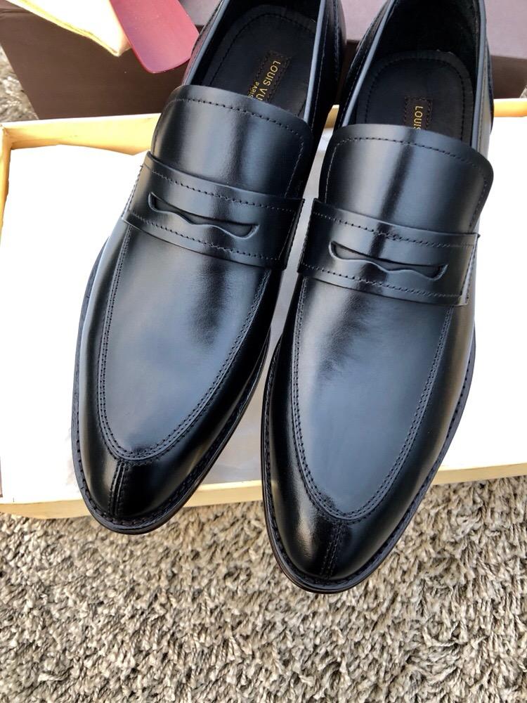 louis vuitton香港官网同款男鞋 LV原版进口意大利牛皮男士正装皮鞋